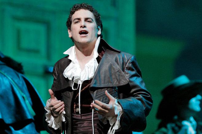 El tenor Juan Diego Flórez, durante la actuación.