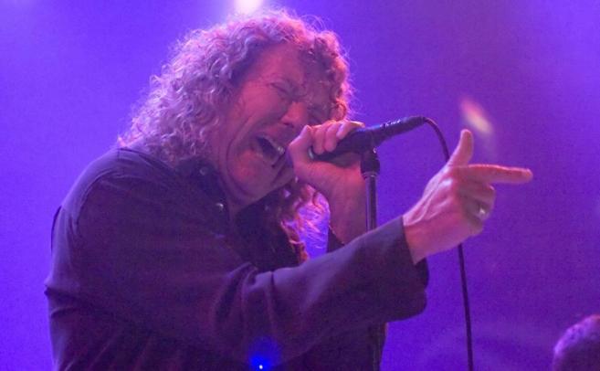 El ex cantante de Led Zeppelin durante una actuación en Chicago.
