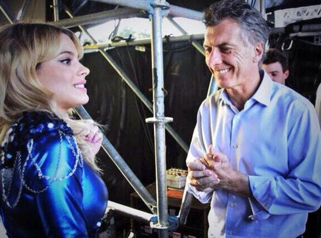 La mirada indiscreta del alcalde de Buenos Aires a la actriz Violetta