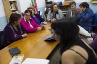 Reunión en la asociación de vecinos de Fontarrón.