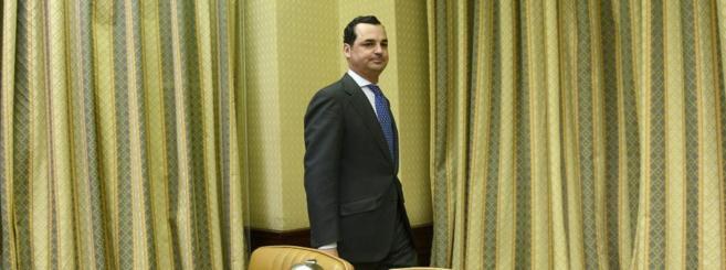 Leopoldo González-Echenique, durante su comparecencia el 22 de abril...