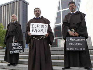 Los monjes del Monasterio del Cobro