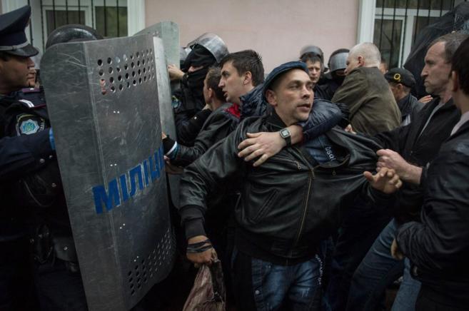 Protestas en Odessa.