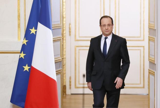 Hollande, durante una comparecencia en El Elíseo por su segundo...