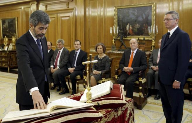 El presidente del Tribunal Supremo y del CGPJ, Carlos Lesmes, jura su...