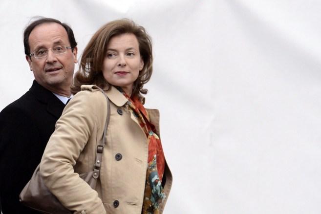Valérie y Hollande, en una imagen de archivo.