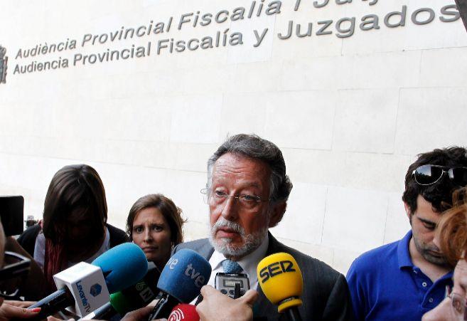 El vicealcalde de Valencia, Alfonso Grau, tras declarar por el caso...