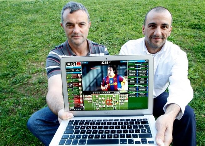 Jesús de Pablos y Jordi Urquijo, fundadores de la empresa 1d3a, en...