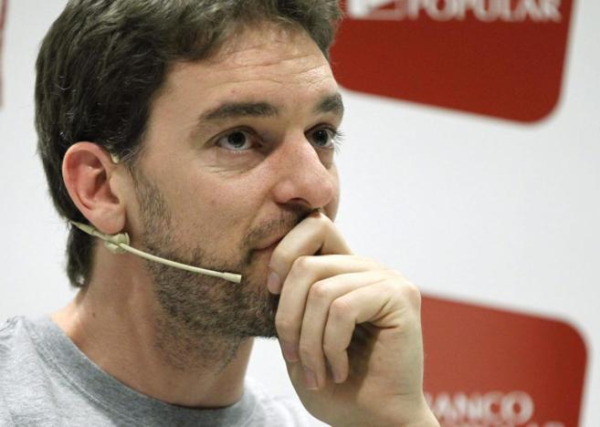 Gasol, durante su comparecencia en Madrid.