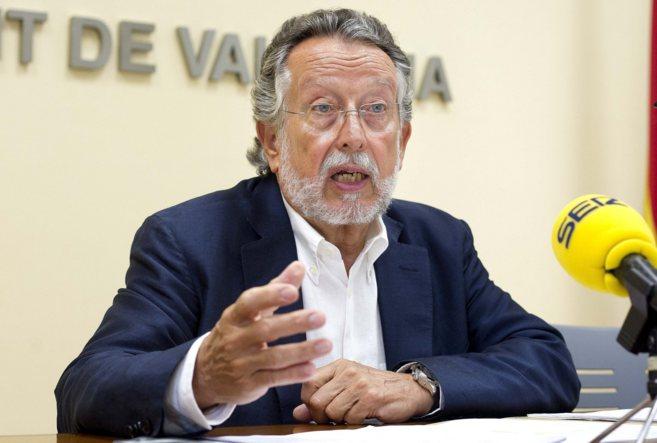 Alfonso Grau, vicealcalde del Ayuntamiento de Valencia, durante una...