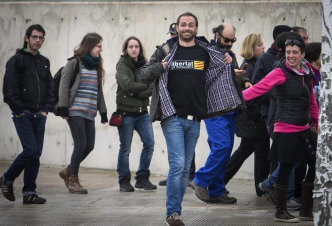 Algunos de los acusados por el asedio al Parlament