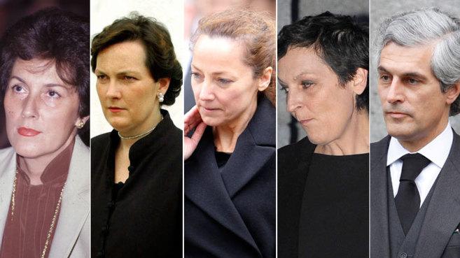 De izquierda a derecha: Amparo Illana, Mariam Suárez, Sonsoles...