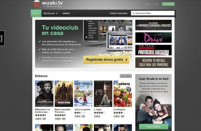 Imagen de Wuaki.tv, una de las empresas participadas por Axon.