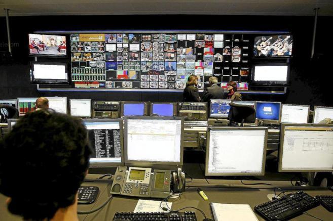 La Torre de Comunicaciones de Collserola, en Barcelona, en marzo de...