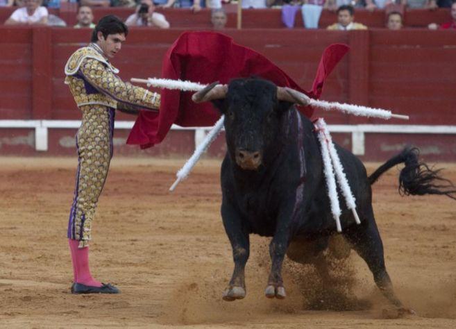 Castella en una corrida en Aranjuez.