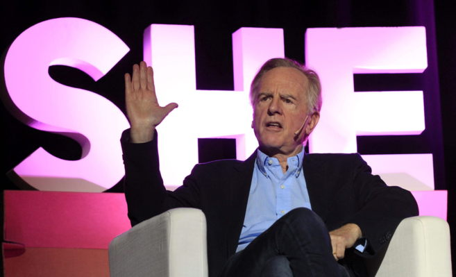 El exconsejero delegado de Apple, John Sculley durante la conferencia...