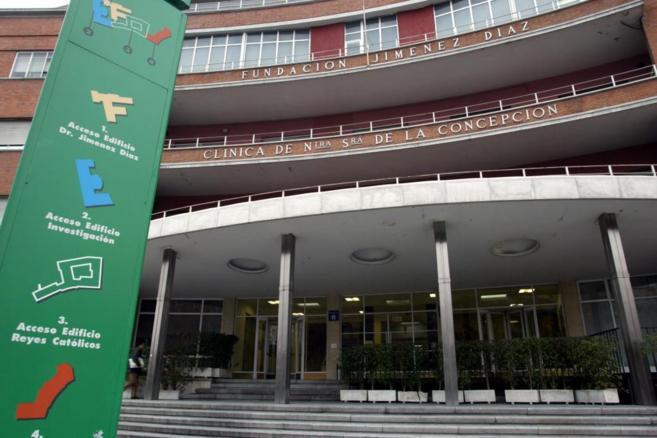 Fachada de la Fundación Jiménez Díaz y la Clínica de Nuestra...