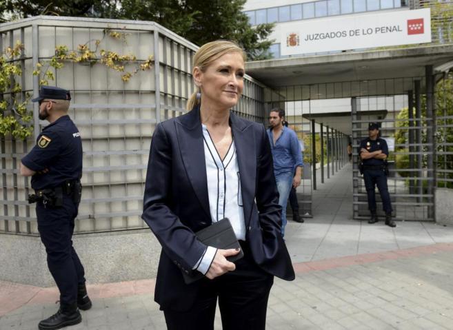 Cristina Cifuentes, este martes, al salir del juicio en los juzgados...