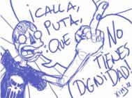 Dibujo de Ximicomix sobre el evento #CallaPuta