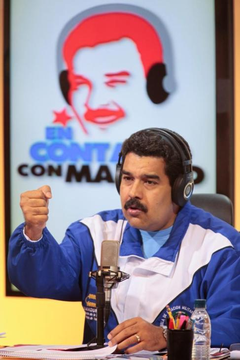 Maduro, durante su programa.