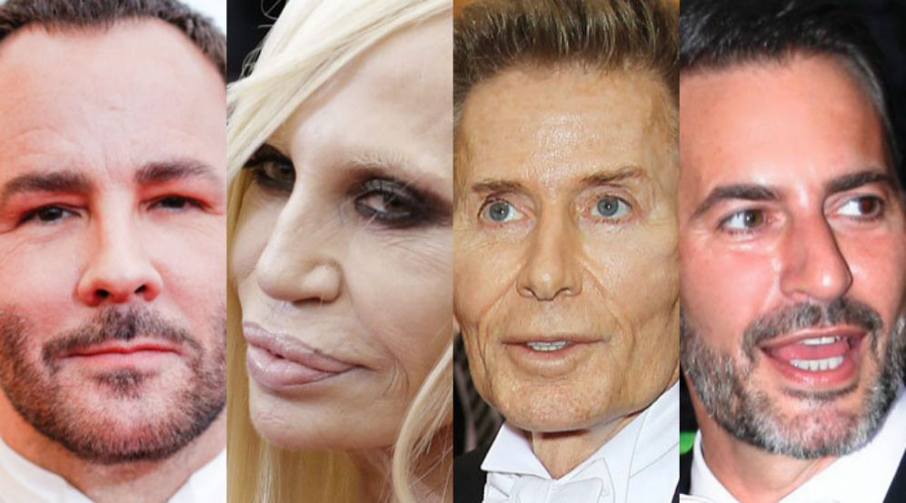 De izda. a dcha., Tom Ford, Donatella Versace y Calvin Klein