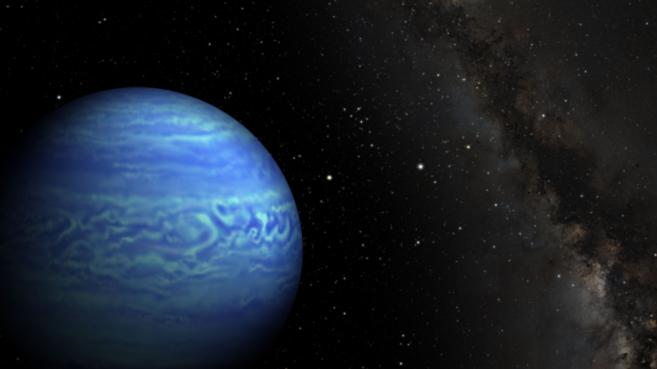 Recreación de la estrella J0855.