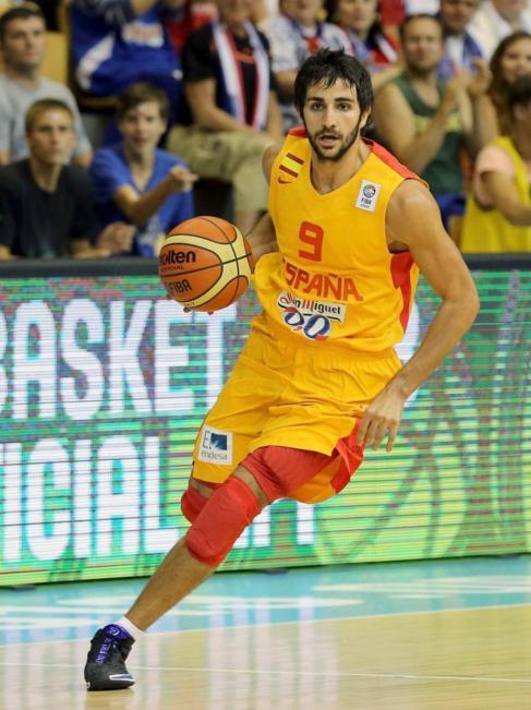 Ricky Rubio durante un partido del Eurobasket 20013.