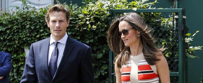 Nico Jackson y Pippa Middleton en el pasado torneo de Wimbledon.