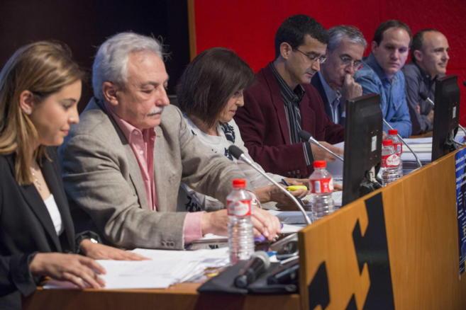 Los candidatos vascos, hoy en el debate de la UPV-EHU.