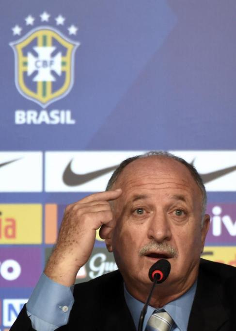 Scolari, durante su conferencia de prensa en Rio.