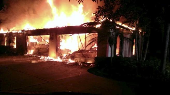 Incendio en la casa del ex tenista James Blake