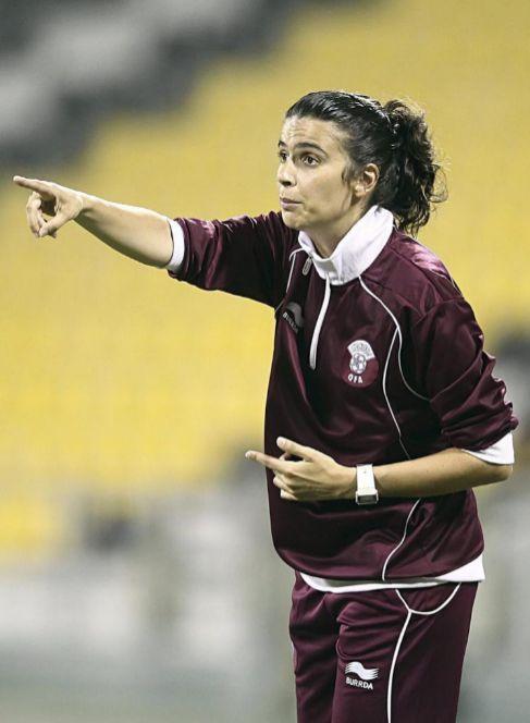 Helena Costa, durante su etapa en Qatar.