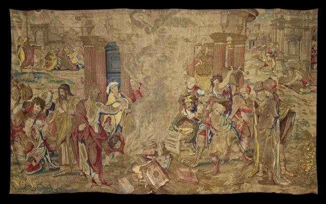 El tapiz 'San Pablo quemando los libros paganos'.