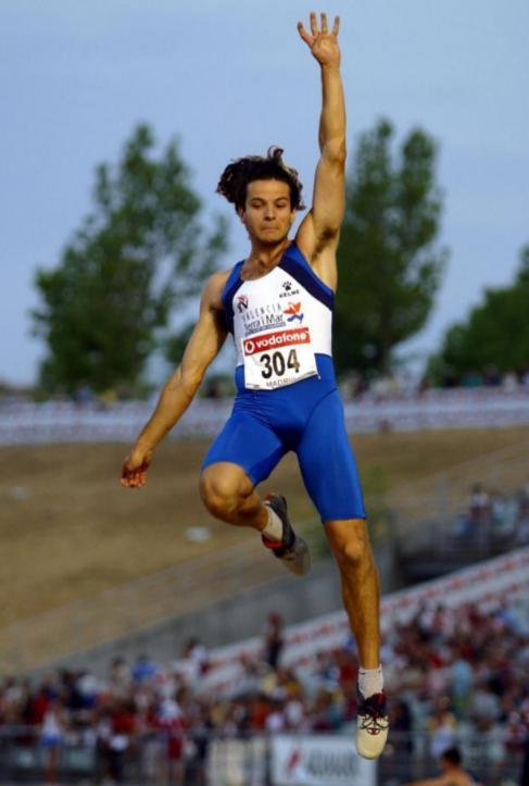 El atleta español durante el Gran Premio de Atletismo de Madrid.