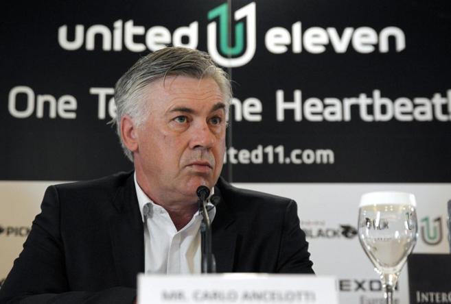 Carlo Ancelotti, durante un acto de presentación de un videojuego en...