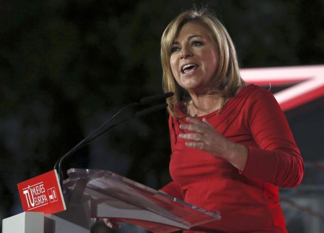 La candidata del PSOE a las elecciones europeas, Elena Valenciano.