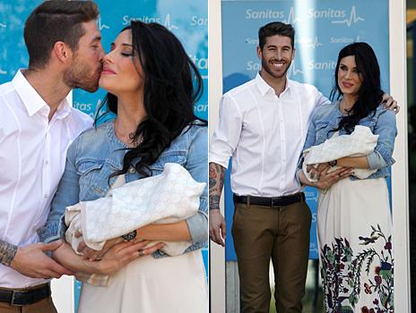 Sergio Ramos y Pilar Rubio, este viernes.