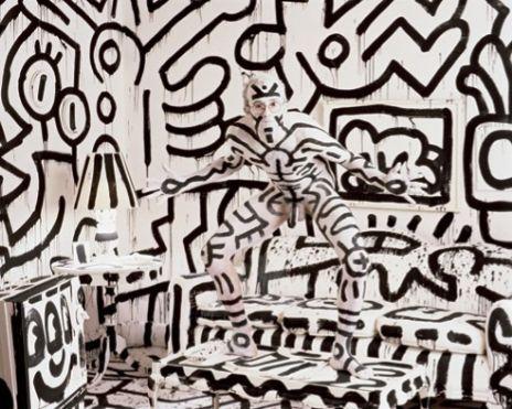 Keith Haring, visto por Annie Leibovitz.