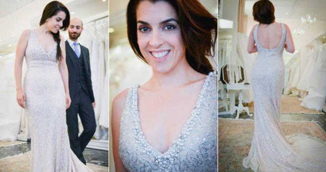 Ruth Lorenzo con su nuevo vestido en el taller del diseñador Hesam. 17b96a078aa