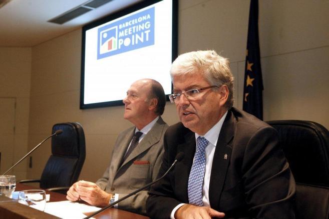 Enrique Lacalle y Jordi Cornet en la presentación del BMP de 2013