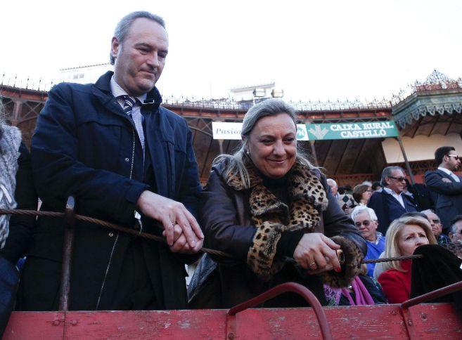 El presidente de la Generalitat Valenciana, Alberto Fabra, y su ex...