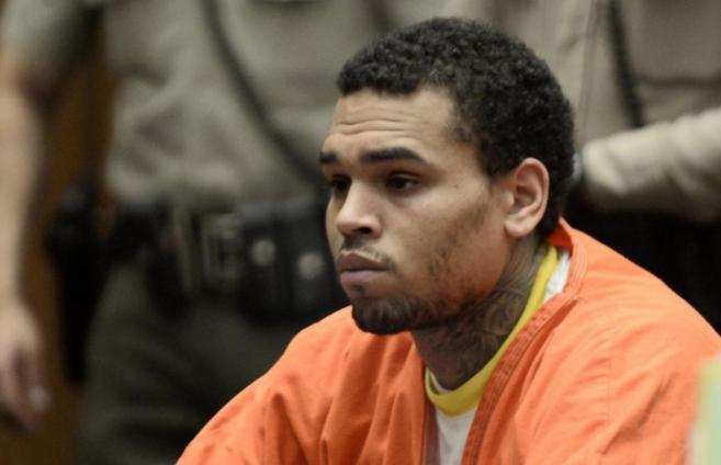 Chris Brown en la Corte Criminal de Los Angeles este viernes.