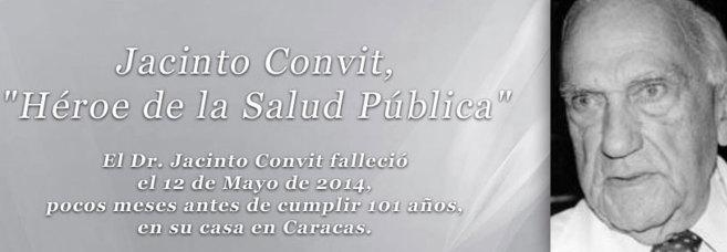 Nota informativa sobre la muerte de Jacinto Convit, en la web de su...