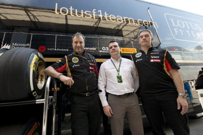 Luca Mazzoco, Ricard Piñol y Nick Chester, en el Circuit de Montmeló...