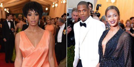 Sonlange, Jay Z y Beyoncé, en la gala del MET.