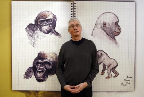 De Waal, en la exposición sobre el gorila Copito de Nieve del Zoo de...