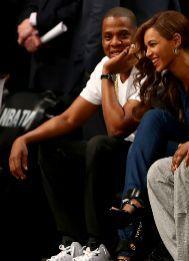 Jay-Z y Beyoncé, anoche.