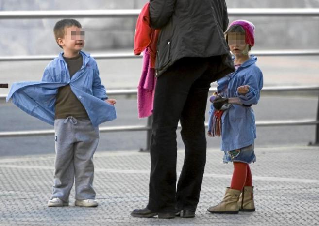 Niños inmigrantes en el colegio Miribilla Ikastetxea , Bilbao.