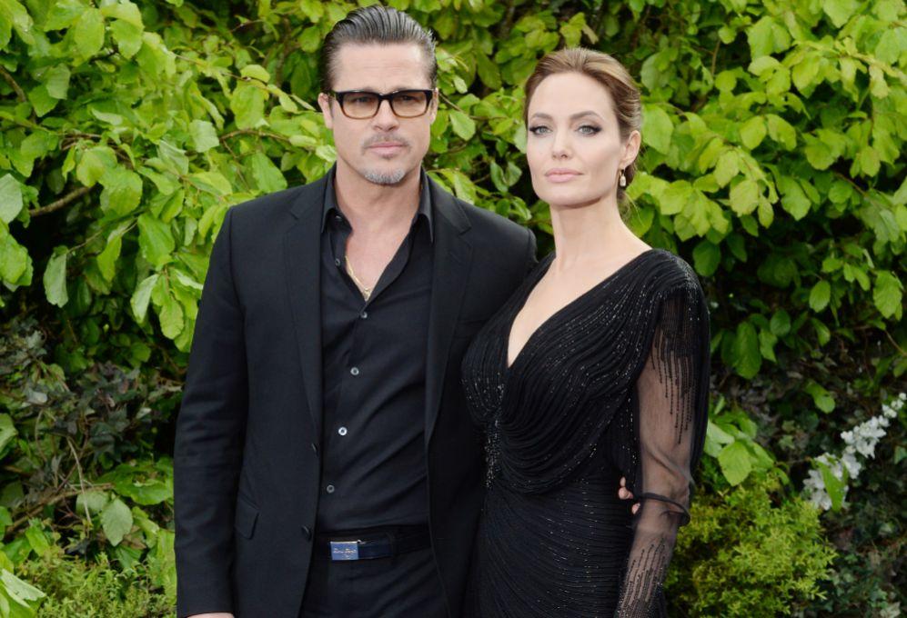Brad Pitt se unió a su esposa durante el estreno de 'Maléfica' en...