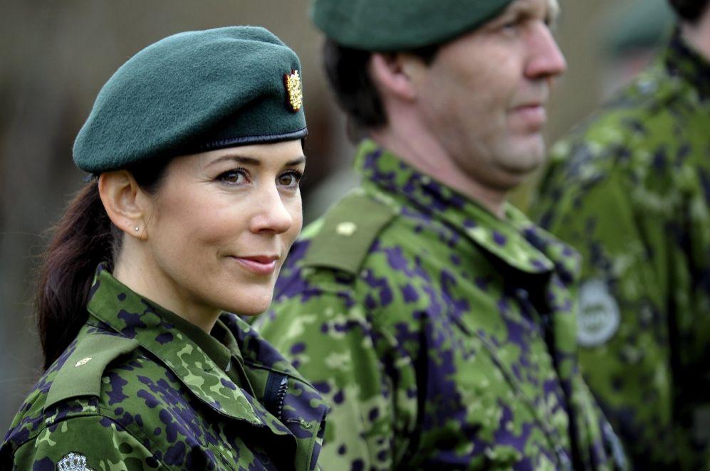 La princesa Mary se ha vestido de militar si ha sido necesario, como...